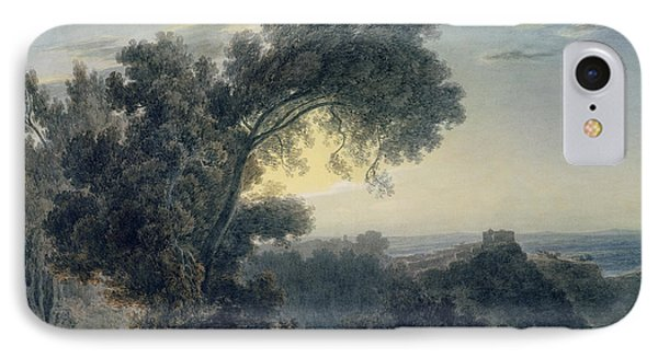 The Lake Of Albano And Castle Gandolfo  Phone Case by John Robert Cozens