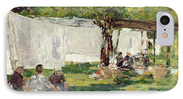 The Laundry At Collise St. Simeon  Phone Case by Eugene Louis Boudin
