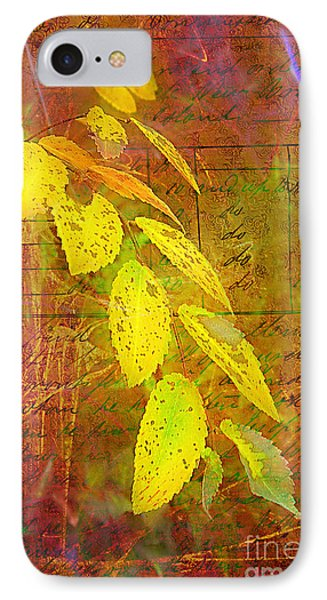 The Leaves Of Yesteryear Phone Case by Judi Bagwell