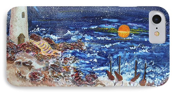 IPhone Case featuring the painting The Lighthouse by Joy Braverman