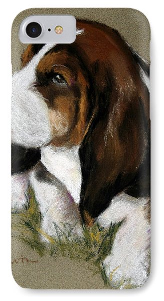 The Little Basset Phone Case by Mary Sparrow