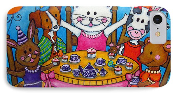 The Little Tea Party Phone Case by Lisa  Lorenz