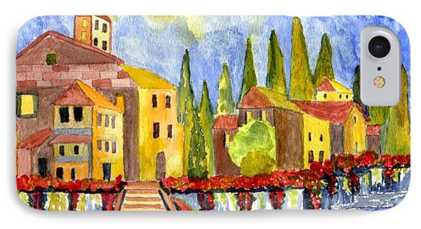 The Little Village IPhone Case by Connie Valasco