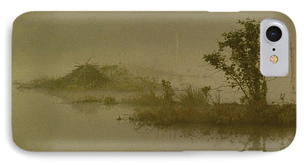 The Lodge In The Mist Phone Case by Skip Willits