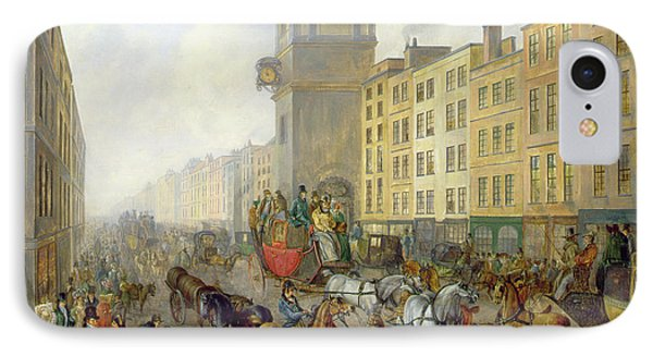 The London Bridge Coach At Cheapside Phone Case by William de Long Turner