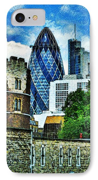 The London Gherkin  IPhone Case