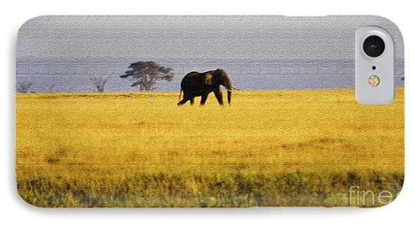 The Lone Elephant Phone Case by Pravine Chester