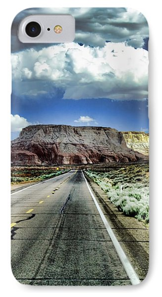 The Long And Lonely Road Phone Case by Ellen Heaverlo