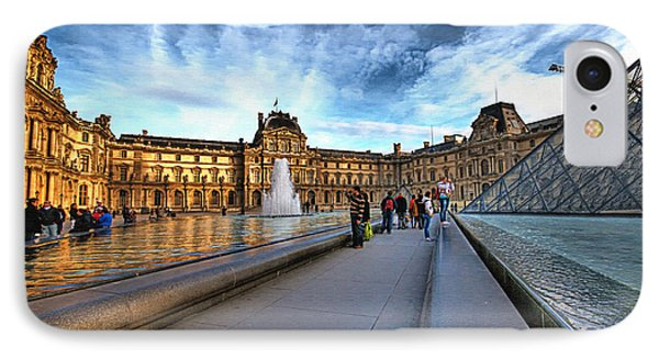 The Louvre Paris Phone Case by Charuhas Images