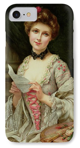 The Love Letter IPhone Case by Francois Martin-Kayel