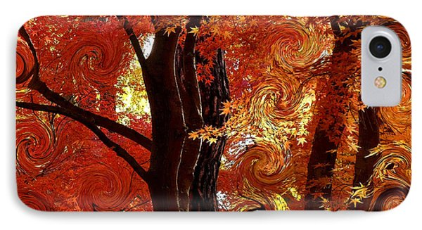 The Magic Of Autumn - Digital Abstract IPhone Case by Carol Groenen