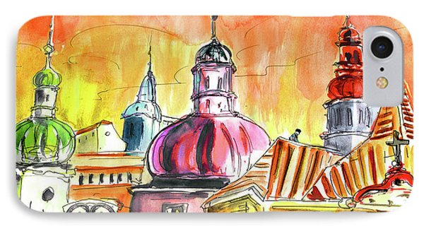 The Magical Roofs Of Prague 01 Bis IPhone Case by Miki De Goodaboom