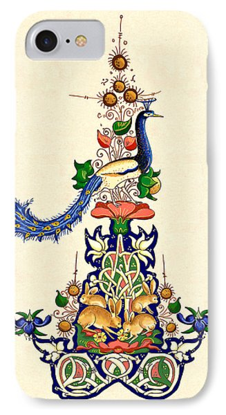 IPhone Case featuring the painting The Magnificent Peacock 2 by Raffaella Lunelli