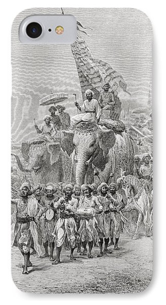 The Maharaja Of Baroda, India Riding An Phone Case by Ken Welsh