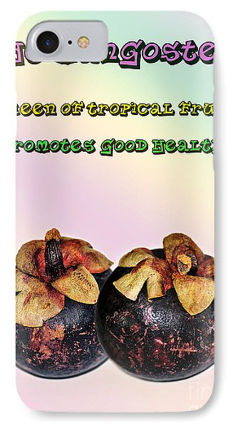 The Mangosteen - Queen Of Tropical Fruits Phone Case by Kaye Menner