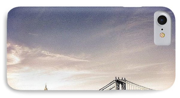 The Manhattan Bridge And New York City Skyline IPhone Case by Vivienne Gucwa