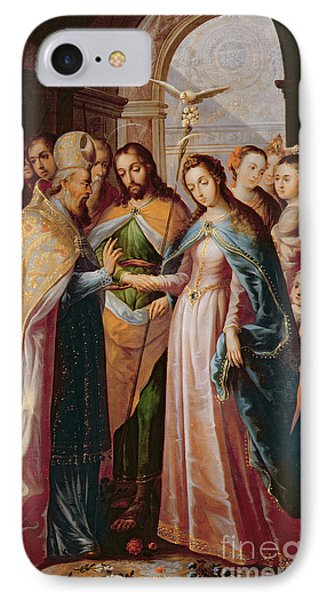 The Marriage Of Mary And Joseph Phone Case by Mexican School