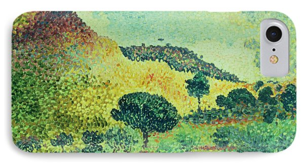 The Maures Mountains Phone Case by Henri-Edmond Cross