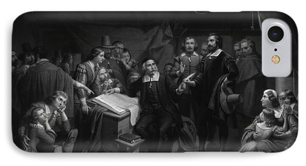 The Mayflower Compact, 1620 Phone Case by Photo Researchers