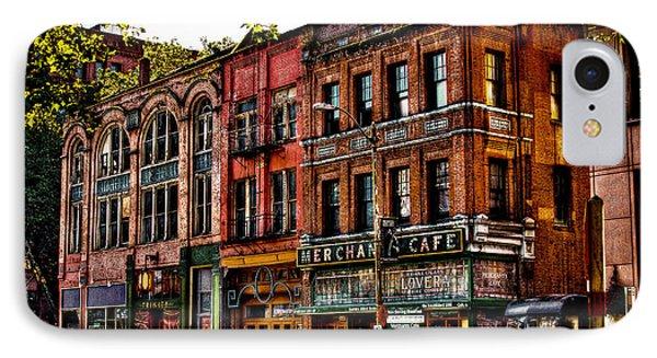 The Merchant Cafe - Seattle Washington IPhone Case by David Patterson