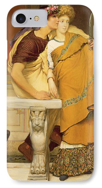 The Mirror Phone Case by Sir Lawrence Alma-Tadema