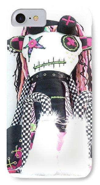 The Misfit Cyberpunk Pussy Cat Jones Version 1.0 Phone Case by Oddball Art Co by Lizzy Love