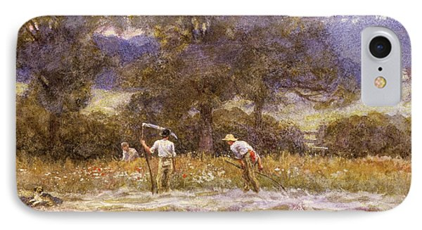 The Mowers  IPhone Case by Helen Allingham