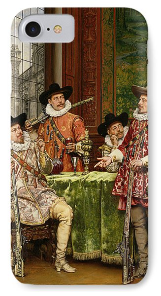 The Musketeer's Tale Phone Case by Adolphe Alexandre Lesrel