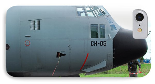 The Nose Of A Hercules C-130 Airplane Phone Case by Luc De Jaeger