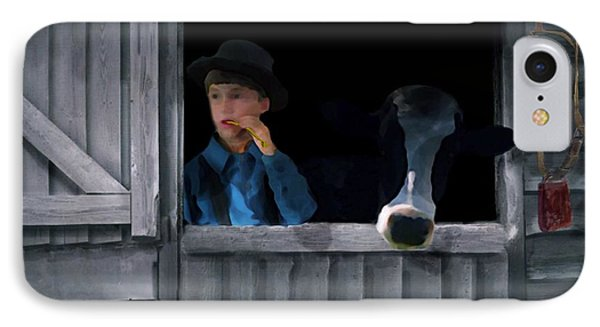 The Old Bell Cow IPhone Case by David Dehner
