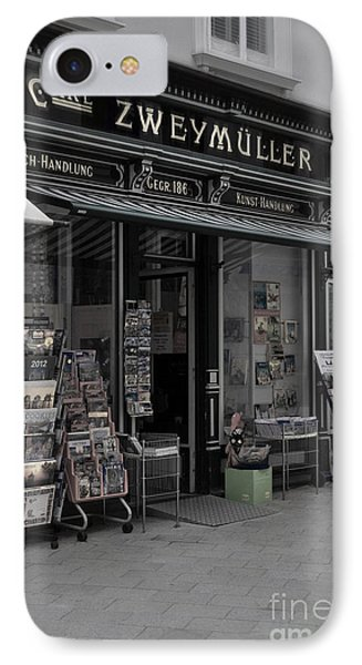 The Old Bookstore IPhone Case by Mary Machare