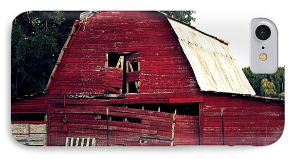 IPhone Case featuring the photograph The Ole Red Barn by Kathy  White