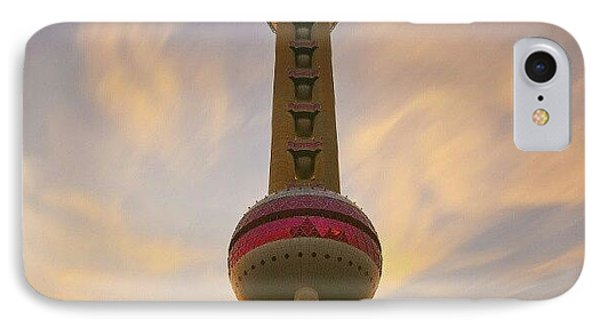 The Oriental Pearl Tv Tower, Shanghai IPhone Case by Tommy Tjahjono