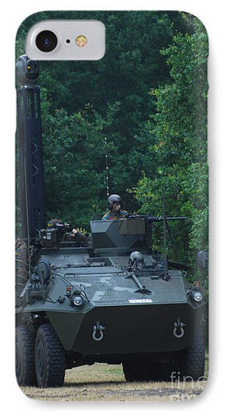The Pandur Recce Vehicle In Use Phone Case by Luc De Jaeger