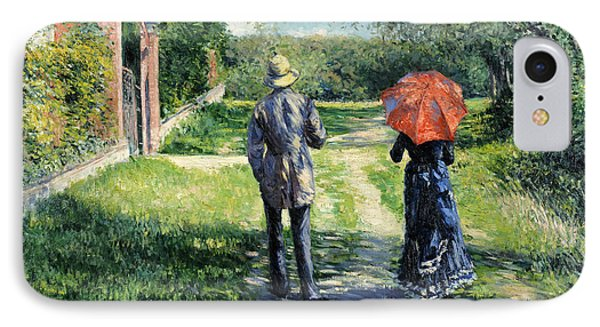 The Path Uphil IPhone Case by Gustave Caillebotte