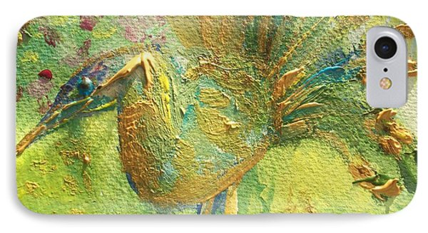 The Peacock Of The Golden Court IPhone Case by Judith Desrosiers