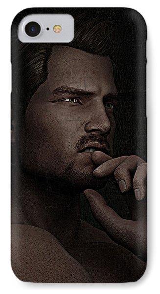 The Pensive Man - Cracked Colour Phone Case by Maynard Ellis
