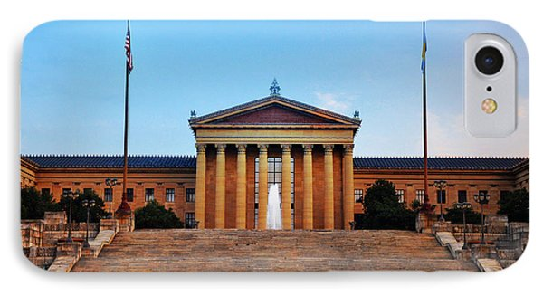 The Philadelphia Museum Of Art Front View IPhone Case by Bill Cannon