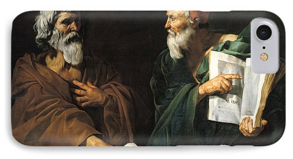 The Philosophers Phone Case by Master of the Judgment of Solomon