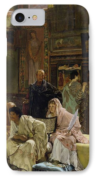 The Picture Gallery Phone Case by Sir Lawrence Alma-Tadema
