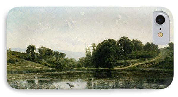 The Pond At Gylieu IPhone Case by Charles Francois Daubigny