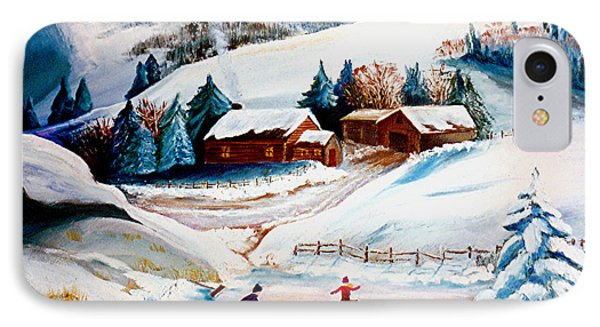 The Pond In Winter IPhone Case by Renate Nadi Wesley