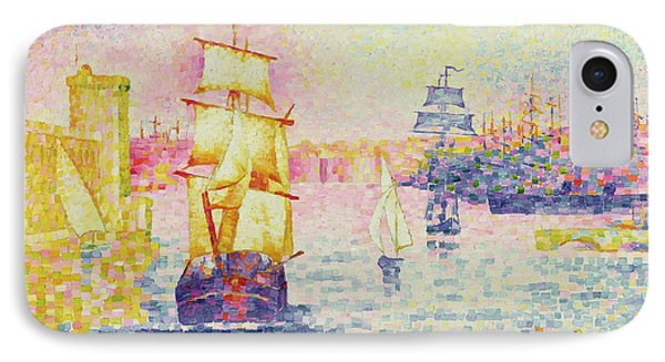The Port Of Marseilles IPhone Case by Henri-Edmond Cross