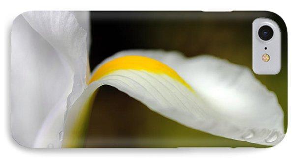 The Pose White Dutch Iris Flower  Phone Case by Jennie Marie Schell