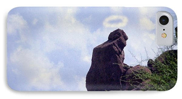 The Praying Monk With Halo - Camelback Mountain - Painted Phone Case by James BO  Insogna