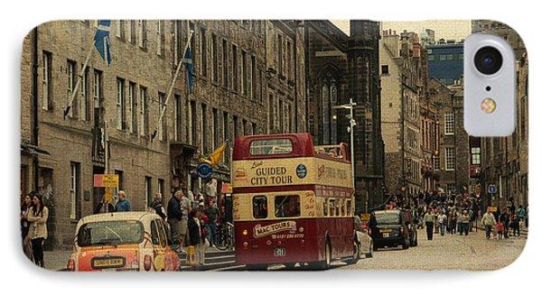 The Princes Street In Edinburgh. Scotland Phone Case by Jenny Rainbow