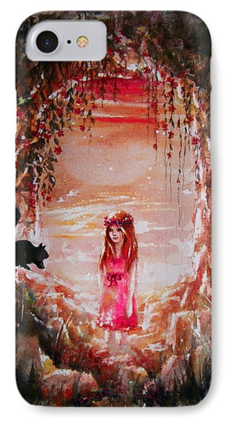 The Princess And The Cat IPhone Case by Rachel Christine Nowicki