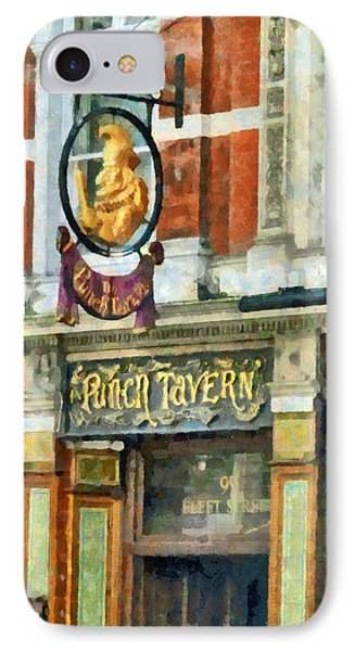 The Punch Tavern At 99 Fleet Street In London Phone Case by Steve Taylor