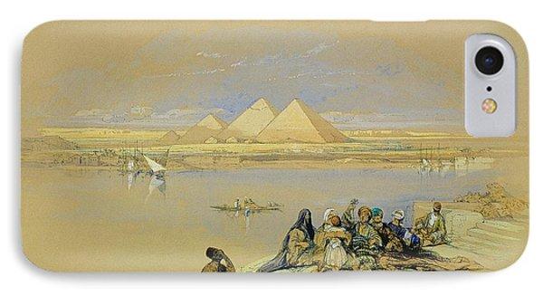 The Pyramids At Giza Near Cairo Phone Case by David Roberts