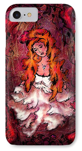 The Queen Of Hearts IPhone Case by Rachel Christine Nowicki